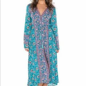 Arnhem Kauai Midi Dress Turquoise